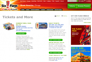 Six Flags Great America Tickets Online