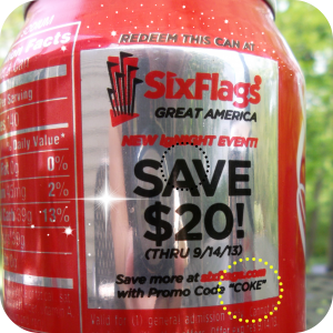 Six Flags Coke Can Coupon and Promo Code