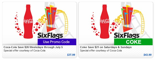 graphic relating to Six Flags Printable Coupons identified as Coke can discount codes for 6 flags 2018 / Berlin metropolis nissan discount coupons