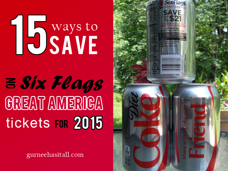 Six Flags Coke Cans 2015