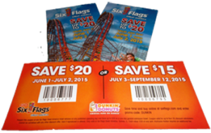 dunkin donuts 2015 six flags coupon